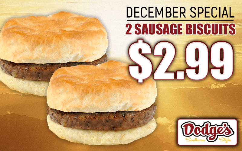 december sausage bisc special